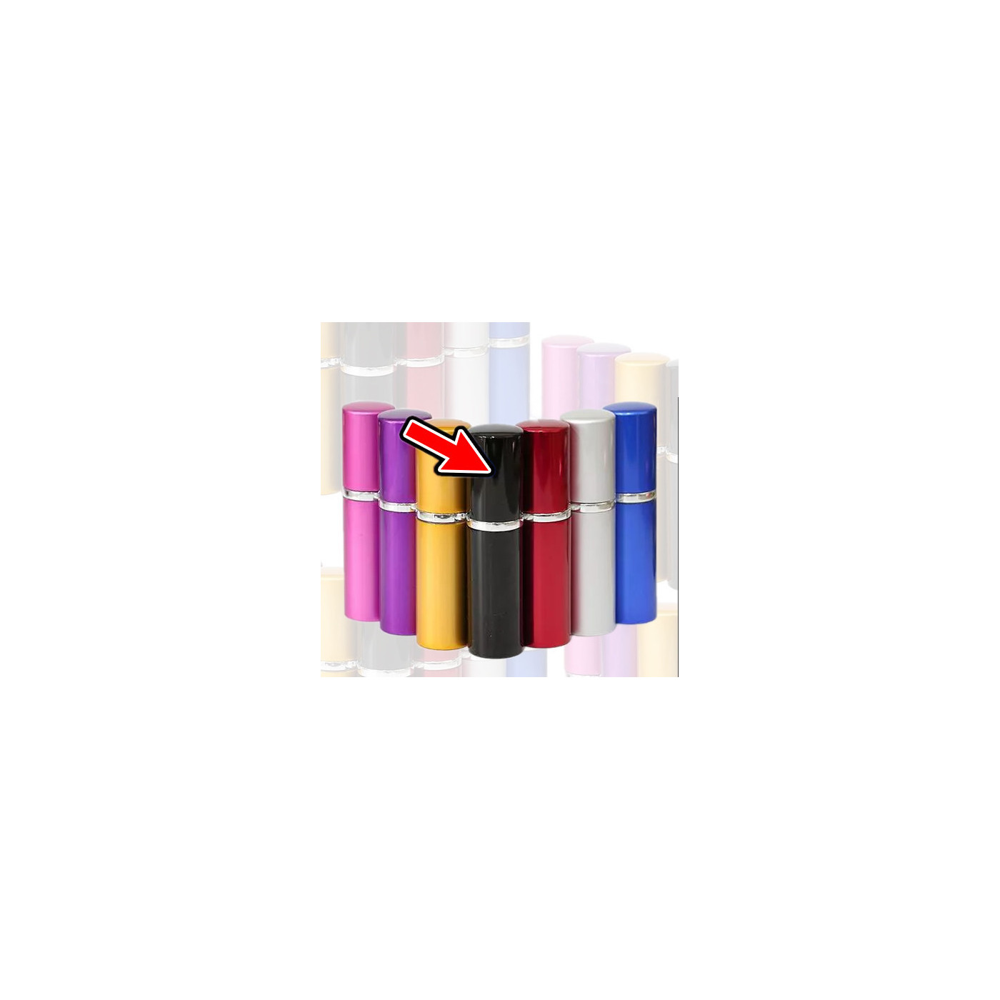 Set of 5 atomizers (10 ml, black)  - 1