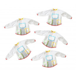 Set of 5 aprons for kids...