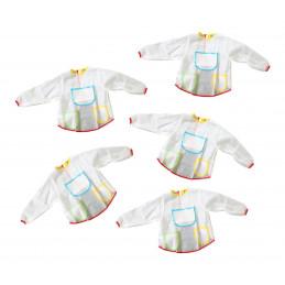 Zestaw 5 fartuchów dla dzieci (odpowiedni dla dzieci w wieku 3-6 lat)  - 1