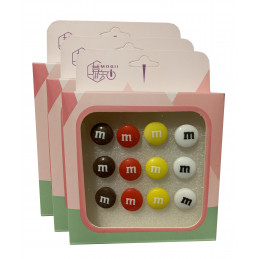 Ensemble de 36 punaises mignonnes dans des boîtes (modèle: bonbons)  - 1