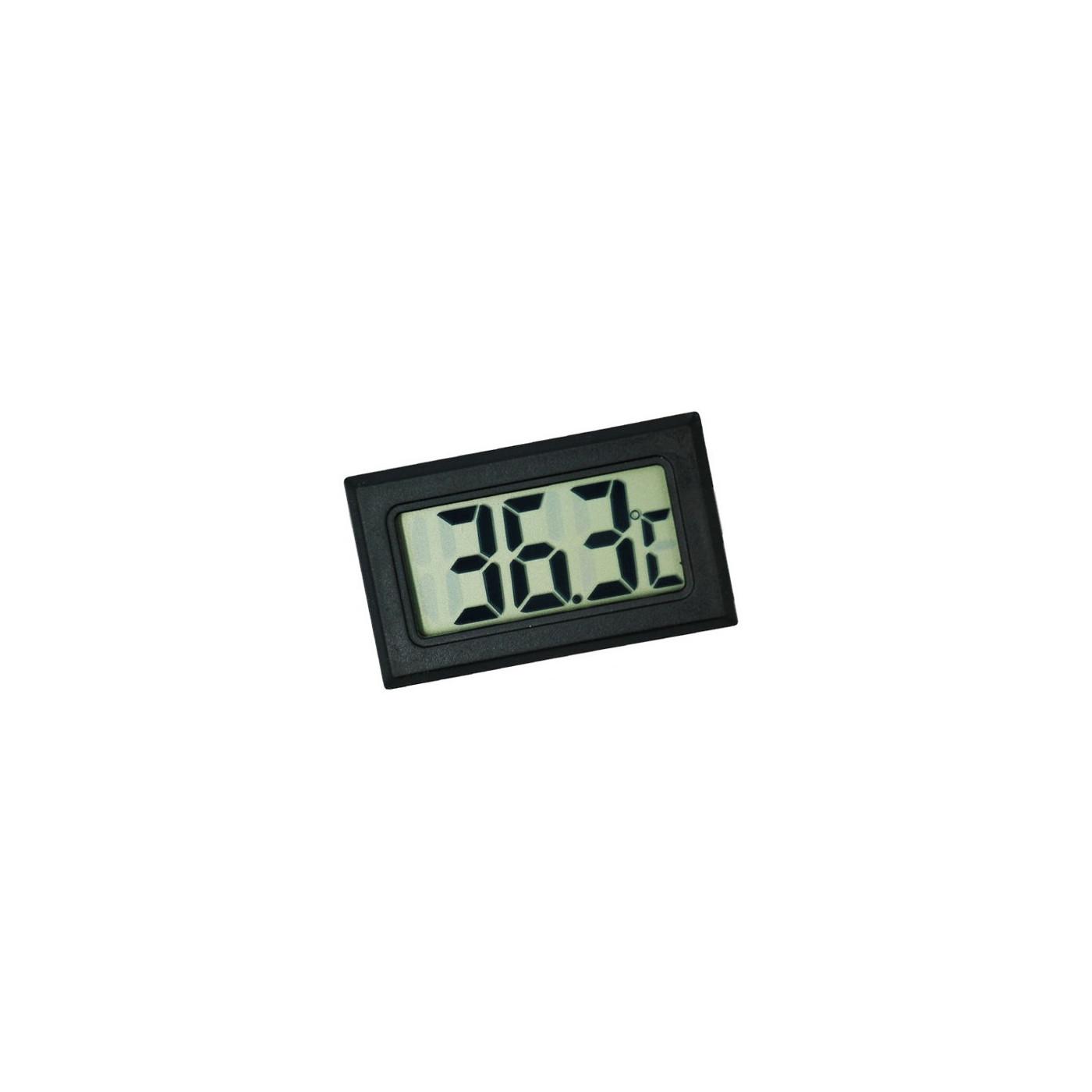 Meter voor temperatuur, thermometer LCD (zwart)  - 1