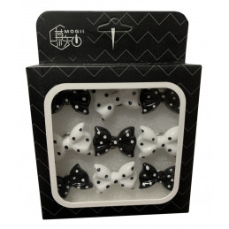 Conjunto de 27 tachinhas fofas em caixas (modelo: arcos, preto e branco)  - 1