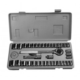 Steckschlüssel in Aufbewahrungsbox (40 Stück)