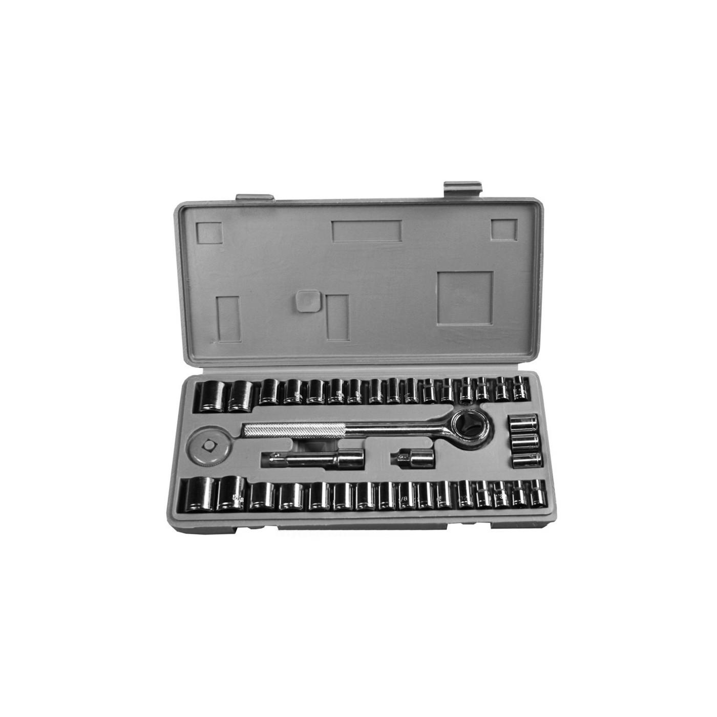 Zestaw kluczy nasadowych w pudełku do przechowywania (40 sztuk)  - 1