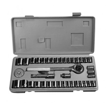 Socket wrench set in storage box (40 pieces)  - 1