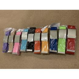 Set of 5 basic, casual belts, light blue (color 4)