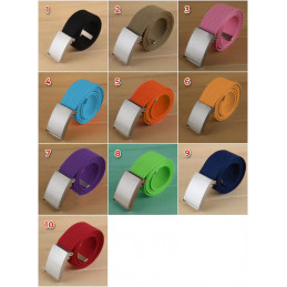 Set of 5 basic, casual belts, orange (color 5)  - 1