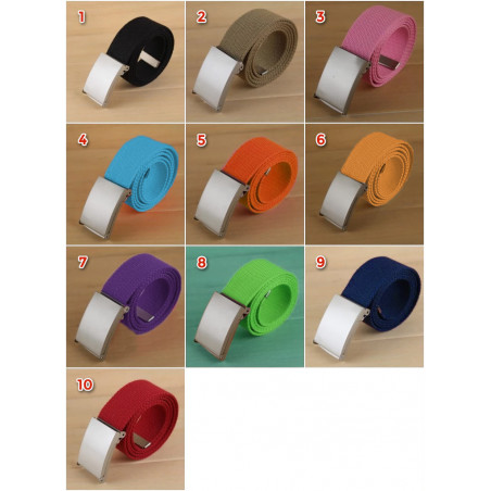 Set of 5 basic, casual belts, red (color 10)