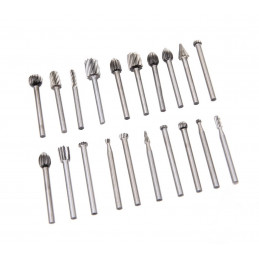 Set mini (dremel) milling cutter/burrs (20 pcs)  - 1