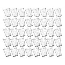 Set of 40 plastic measuring cups (30 ml, with graduation, PP material)  - 1