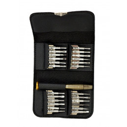Screwdrivers repairset in a pouch (25 parts)