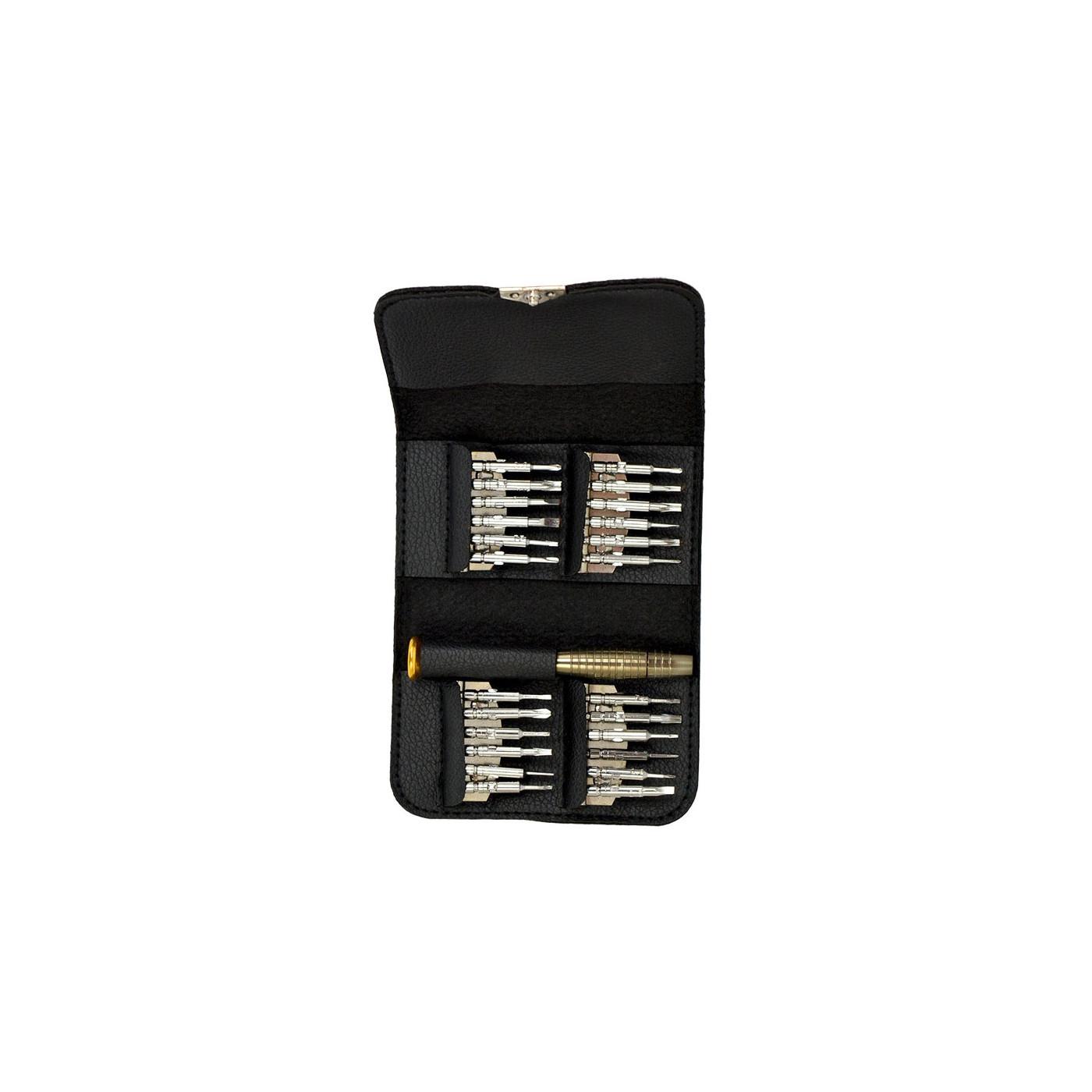 Kit de réparation de tournevis dans une pochette (25 pièces)
