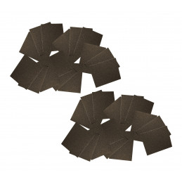 Carta abrasiva XXL, 90 fogli di 20x25 cm (P80, P150, P180)