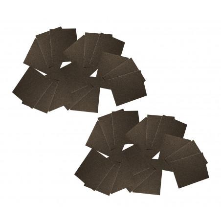 Papier abrasif XXL, 90 feuilles de 20x25 cm (P80, P150, P180)