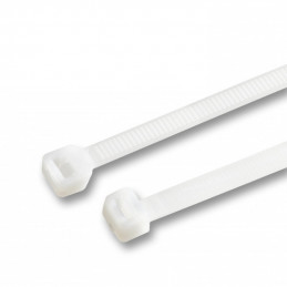 Lot de 200 attaches fortes, 4,8x370 mm (blanc, extra long)