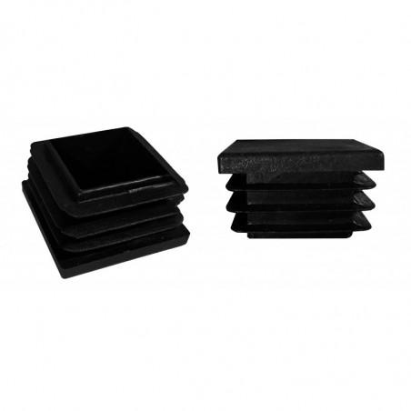 Set of 16 chair leg caps (F44/E49/D50, black)