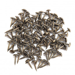 Set of 100 furniture nails (push pins, 6x12 mm, bronze, type 4)