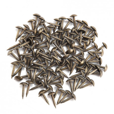 Set of 100 furniture nails (push pins, 6x12 mm, bronze, type 4)