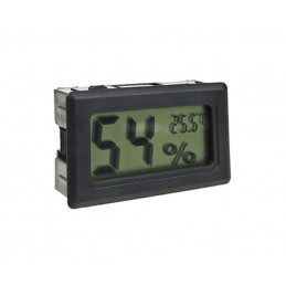 LCD indoor temperature and humidity meter (black)  - 1