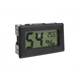 Medidor de temperatura y humedad interior LCD (negro)  - 1