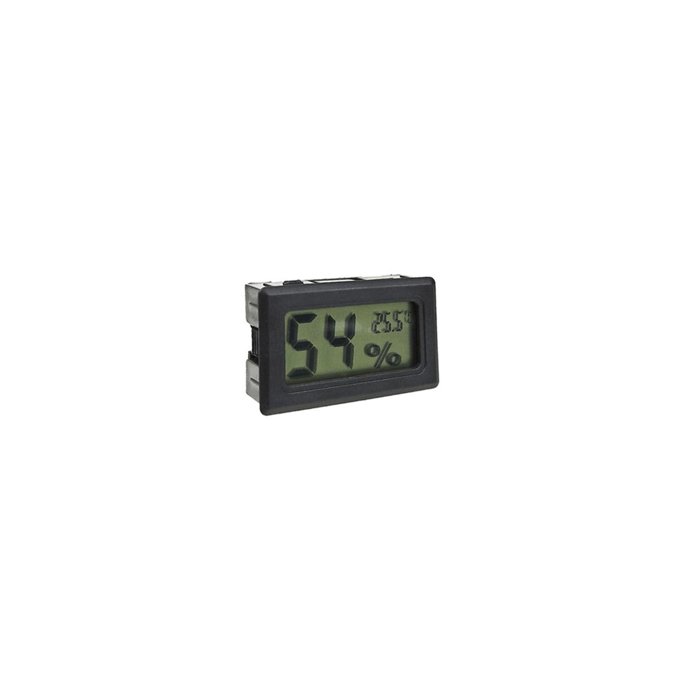 Medidor de temperatura e umidade interno de LCD (preto)  - 1