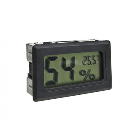 LCD indoor temperature and humidity meter (black)