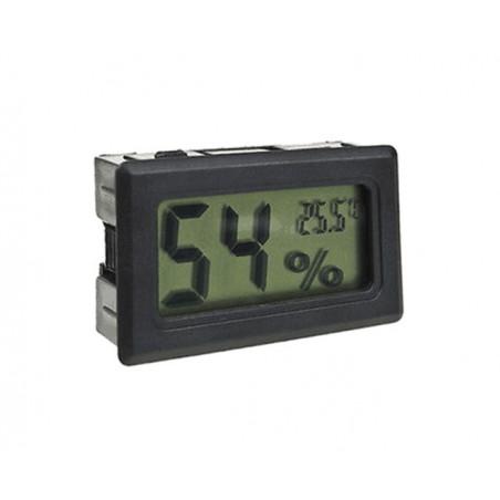 LCD mètre de température et d'humidité intérieure (noir)
