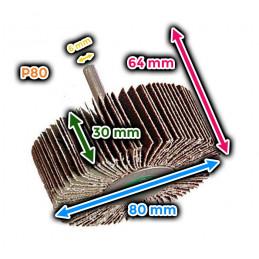 Roue à lamelles 80x30 mm (grain 80)
