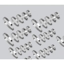 Conjunto de 80 abrazaderas de manguera (12-40 mm de diámetro, en 2 cajas de plástico)  - 1