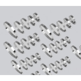 Set van 80 slangklemmen (12-40 mm, in 2 kunststof doosjes)