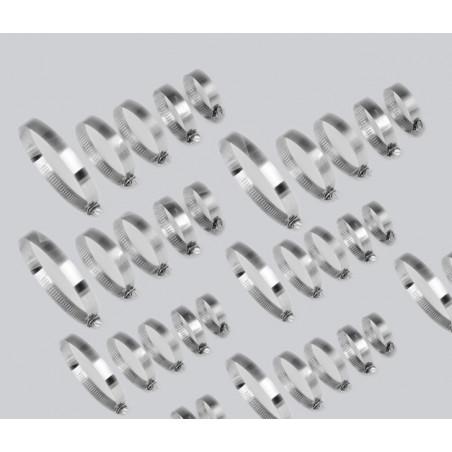 Jeu de 80 colliers de serrage (diamètre 12-40 mm, dans 2 boîtes