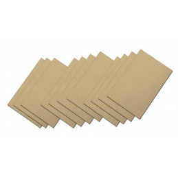 Set of 55 small sandpaper sheets (grit 60, 100, 150)