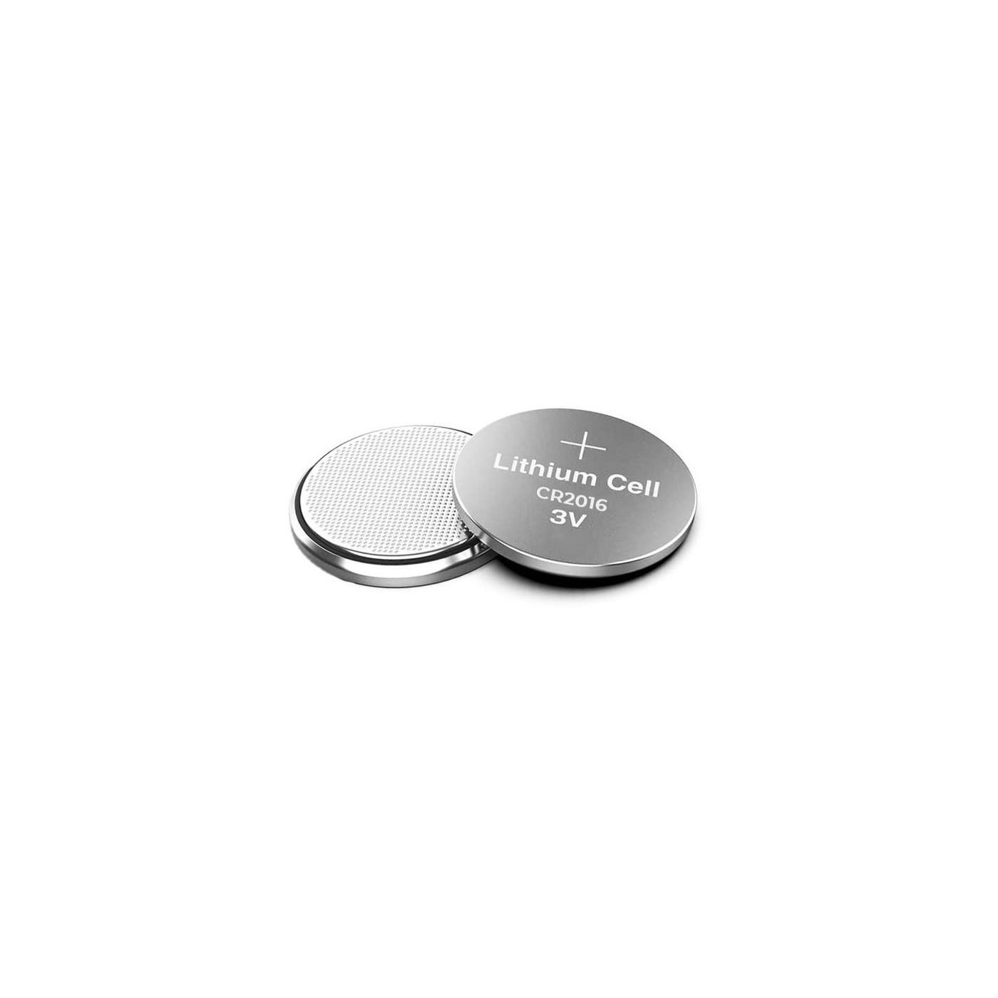 Lot de 5 piles CR2016 (piles bouton, 3V)