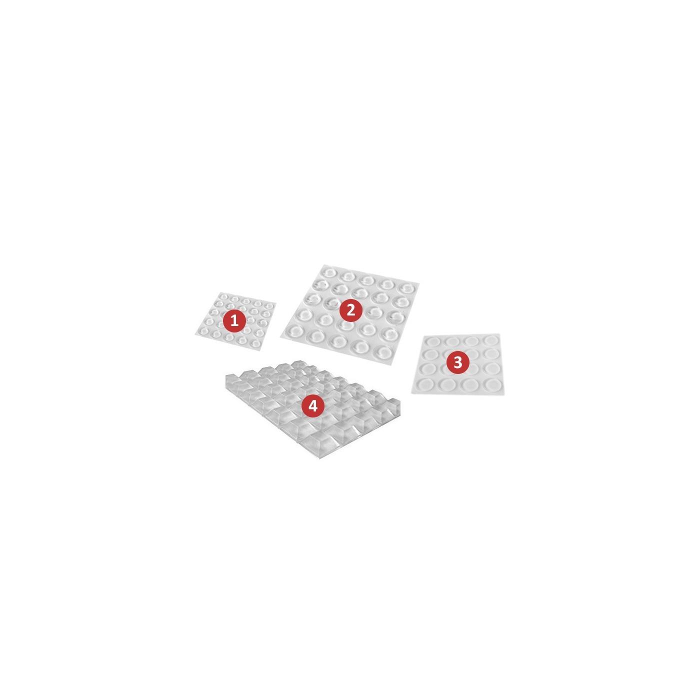 Set of 318 self adhesive buffers (combi-pack: 4 types)