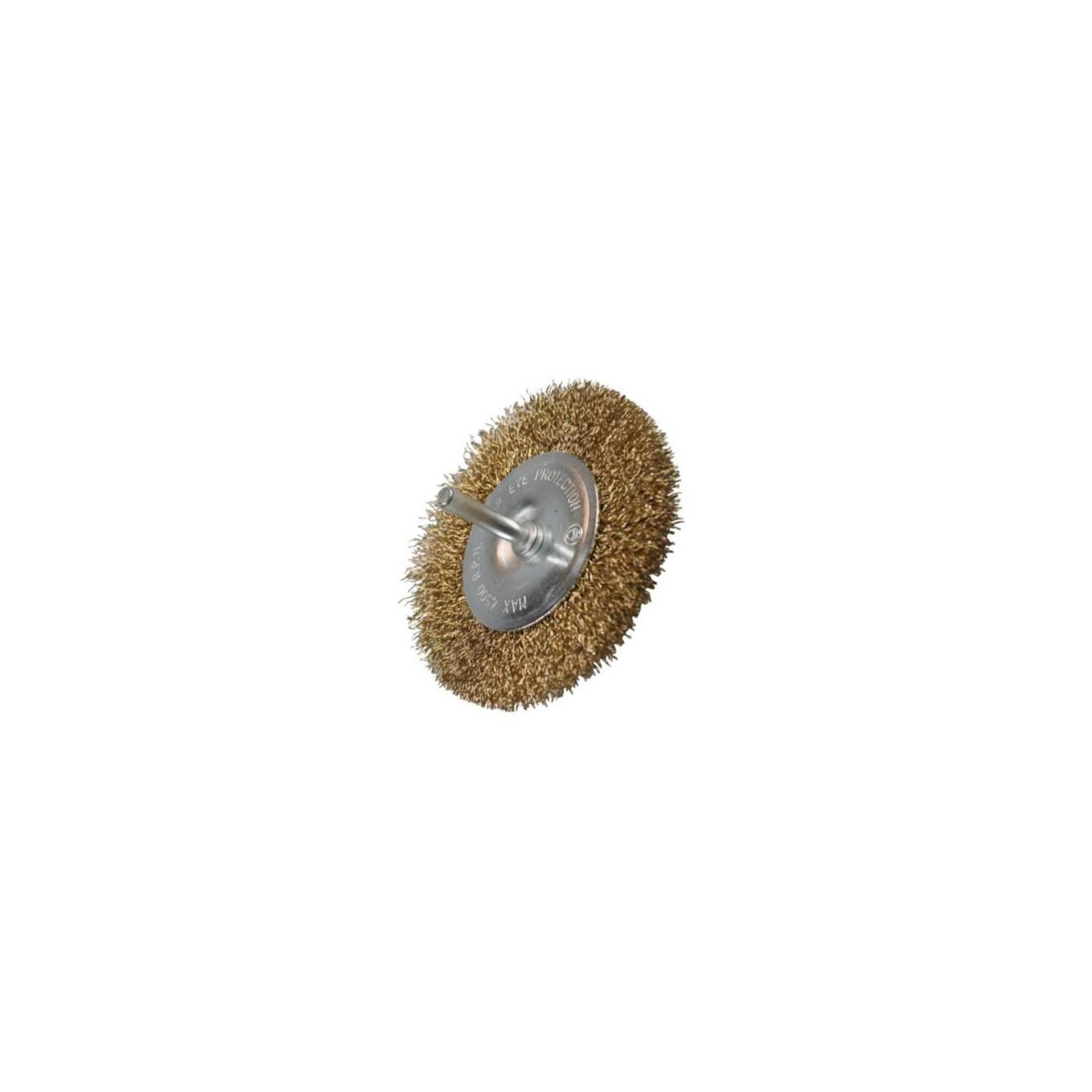 Płaska metalowa szczotka druciana do wiertarek o średnicy 100 mm  - 1