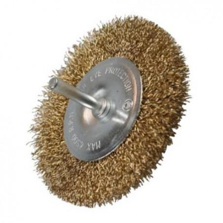 Platte metaalborstel voor boormachines, 100 mm diameter
