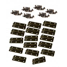 Conjunto de 16 dobradiças de bronze (20x40 mm, incluindo parafusos)  - 1