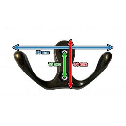 Set of 6 metal clothes hooks, coat hangers (double, color: