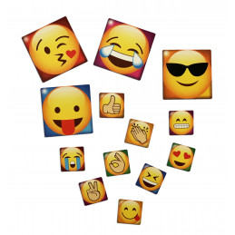 Conjunto de 65 emoticons imãs de geladeira  - 1