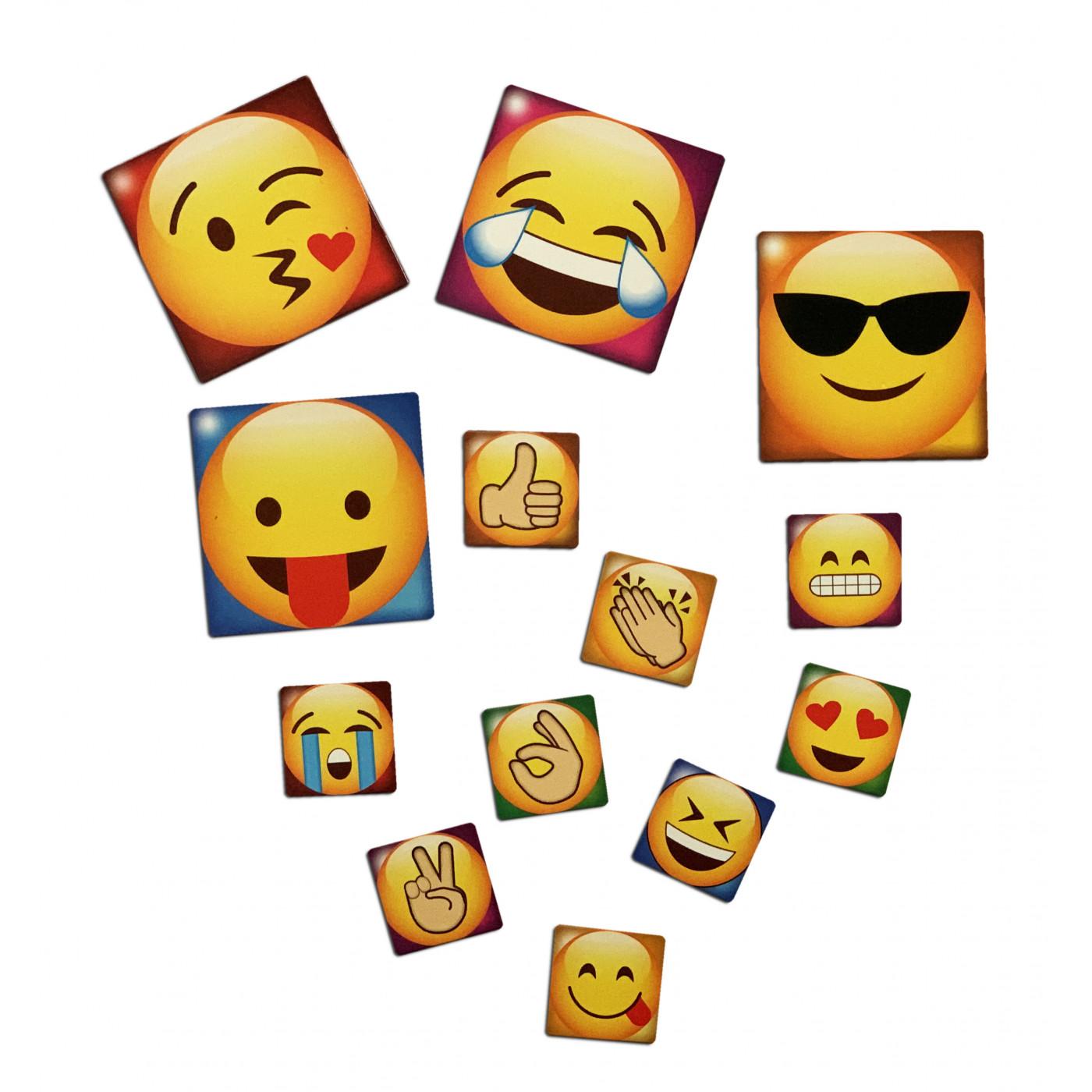 Set van 65 emoticons koelkastmagneten