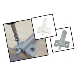 Conjunto de 10 amortecedores de porta de plástico (cinza, incluindo parafusos, pressione para abrir)  - 1