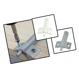 Cabinet door damper, gray