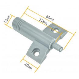 Set of 10 plastic door dampers (gray, including screws, push to