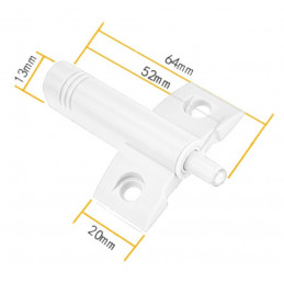 Set of 10 plastic door dampers (white, including screws, push