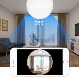 HD camera in lamp, e27 for Android, IOS