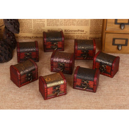 Set of 5 vintage wooden boxes (chests)  - 2