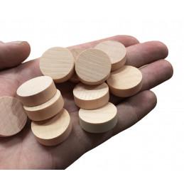 Set van 100 houten schijven (dia: 2.5 cm, dikte: 8 mm, schima)
