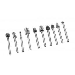 Set von 10 Mini HSS Fräsern / Graten (3,175 mm)