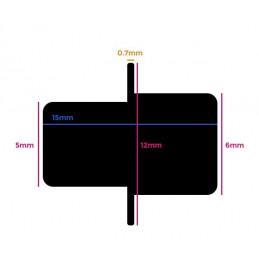 Set van 120 kunststof plankdragers (wit, 5&6 mm, 15 mm lengte)  - 2