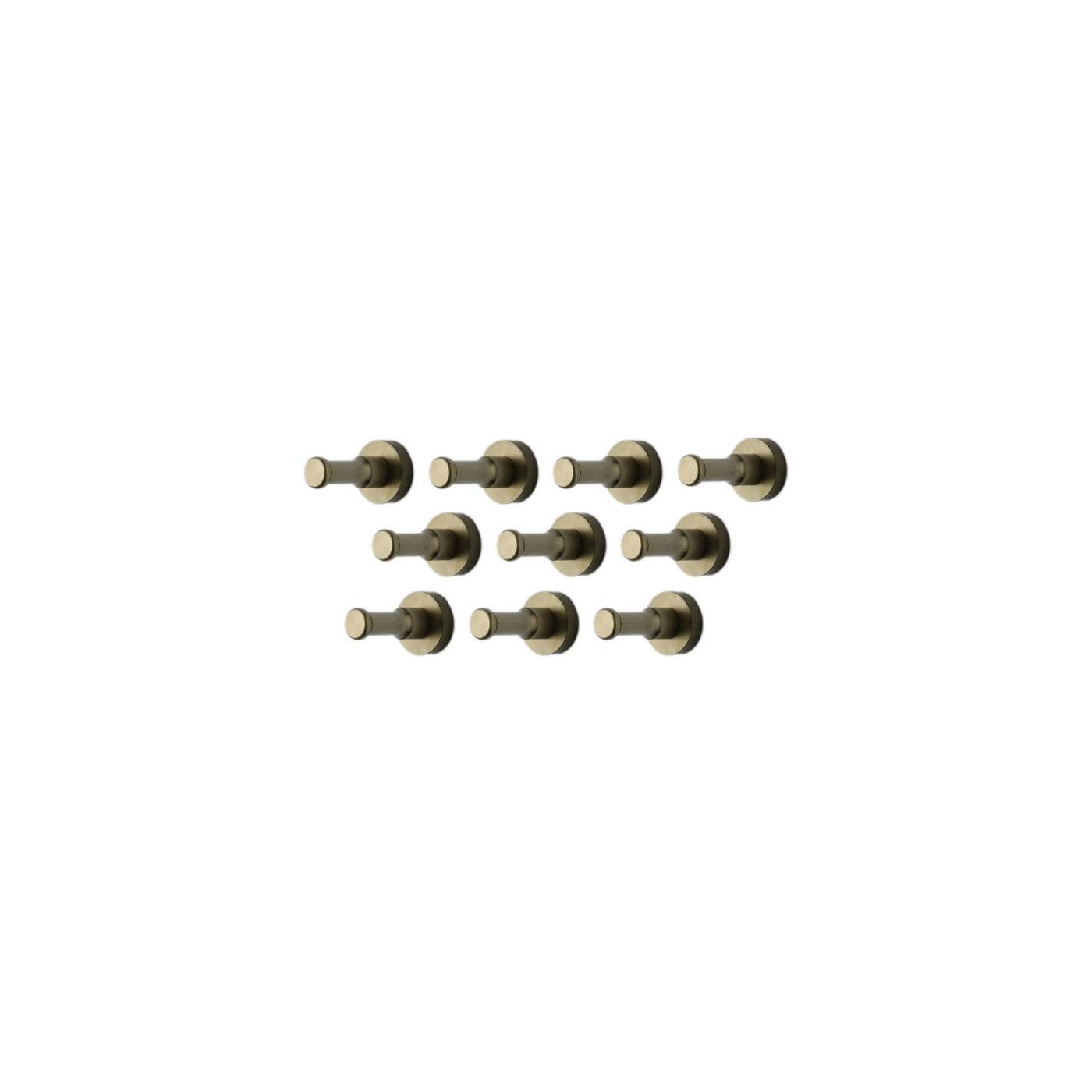 Tiro a Segno attivit/à allaperto/—Lega Zinco Ziyero 10 Pezzi Attacco Tattico per Portachiavi Moschettone Tattico da Appendere Gancio di Olecrano per Alpinismo Nero Trekking Campeggio Caccia